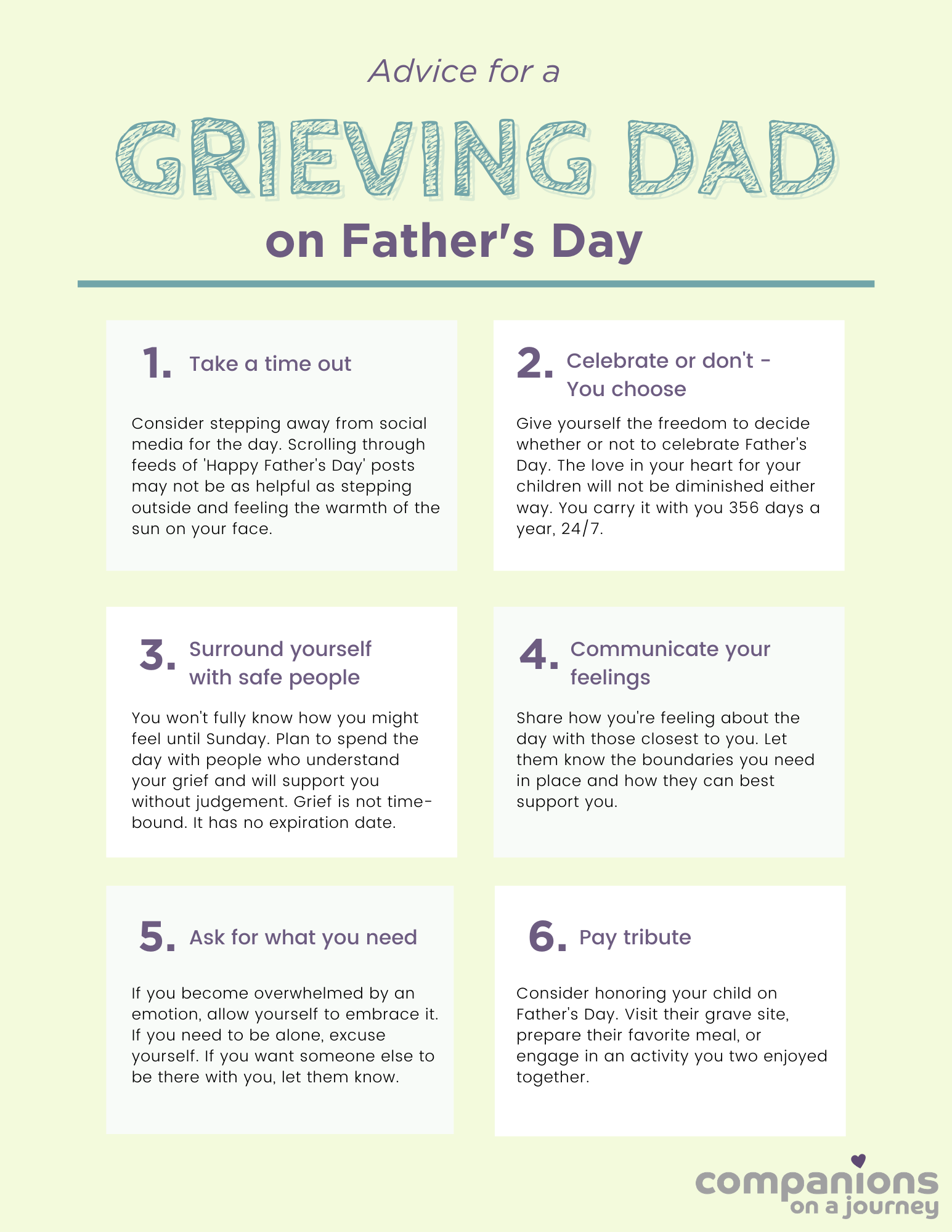 Bereaved Parents Advice for a Grieving Dad on Father's Day